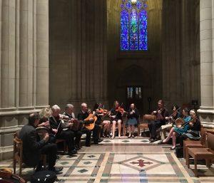 InnMates playing Washington Cathedral