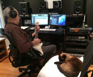 Zan McLeod in the studio