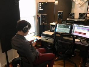 Sean Heely in recording studio